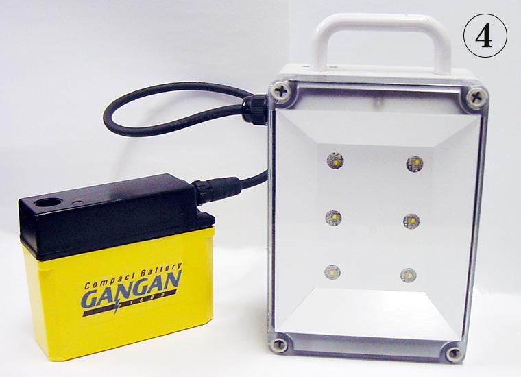LED照明器具専用ケーブルに弊社用コネクターを接続